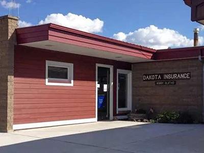 Dakota Insurance building in Beach, North Dakota